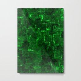 Cyber green glow Metal Print