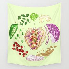 Fish Taco Diagram Wall Tapestry