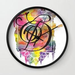 Calligraphy Capital Initial D Wall Clock