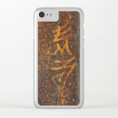 Raw Steel Clear iPhone Case