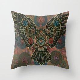 """""""Bronze Owl"""" copyright Ray Stephenson 2013 Throw Pillow"""
