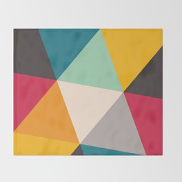Geometric Triangles Throw Blanket