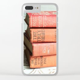 antique reds Clear iPhone Case