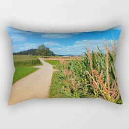 Besides the cornfields   landscape photography Rectangular Pillow