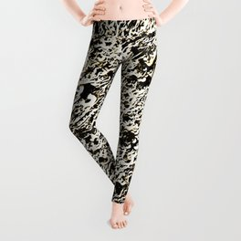 Relief Pattern Abstract Leggings