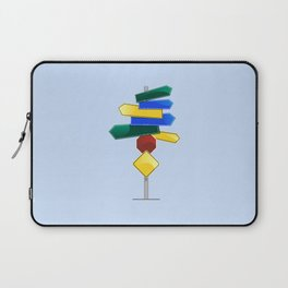 Direction Sign Laptop Sleeve