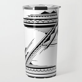 'Z' Bali Alphabet Illustration by Hannah Stouffer Travel Mug