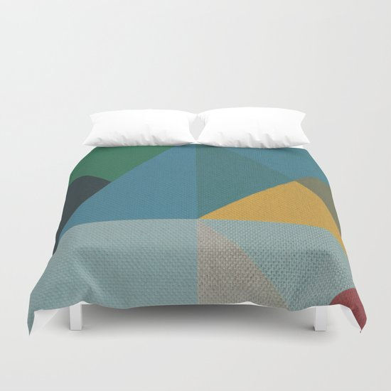 Geometric Thoughts 6 Duvet Cover