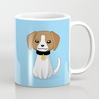 beagle Mugs featuring Beagle by Freeminds