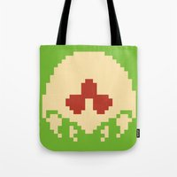 metroid Tote Bags featuring Metroid SR388 by Pralie