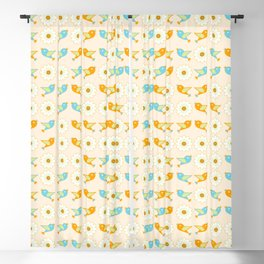 Birds and daisies Blackout Curtain