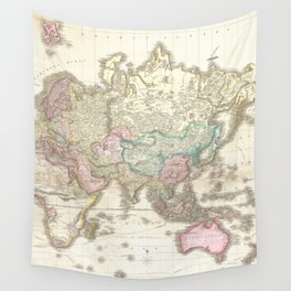 Vintage Map of The Eastern Hemisphere (1818) Wall Tapestry