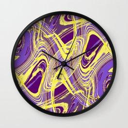 Yellow and Purple Dancing the Tango Wall Clock