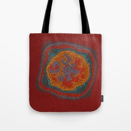 Growing - Lamium - plant cell embroidery Tote Bag