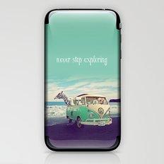 NEVER STOP EXPLORING THE BEACH iPhone & iPod Skin