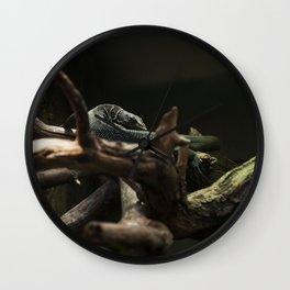 Emerald Alligator Lizard, Lincoln Park Zoo Wall Clock
