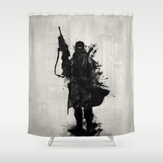 Post Apocalyptic Warrior Shower Curtain