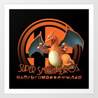 super smash bros Art Prints featuring Charizard - Super Smash Bros. by Donkey Inferno