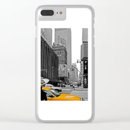 NYC Yellow Cabs Sex and the City - USA Clear iPhone Case