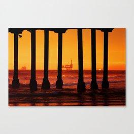 Sunset Huntington Beach California  Canvas Print
