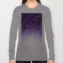 Purple Crystal Ombre Long Sleeve T-shirt