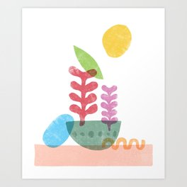 Still Life with Egg & Worm Art Print