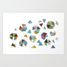 Color Hexagons Art Print