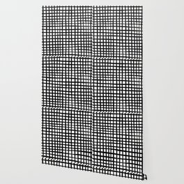 Hand-painted Grid Wallpaper