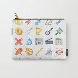 CUTE MUSICAL INSTRUMENTS PATTERN Carry-All Pouch