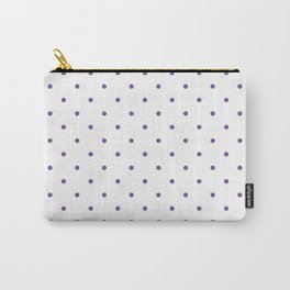 Small Purple Polka Dots Carry-All Pouch