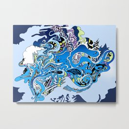 Swimming in the mind Metal Print