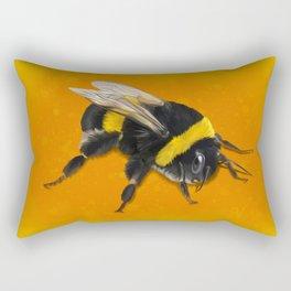 Fuzzy Bumblebee Rectangular Pillow