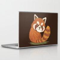 red panda Laptop & iPad Skins featuring Panda by Toru Sanogawa