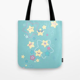 Cute Pastel Stars Tote Bag