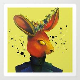 Red Rabbit Art Print