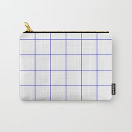 Graph Paper (Blue & White Pattern) Carry-All Pouch