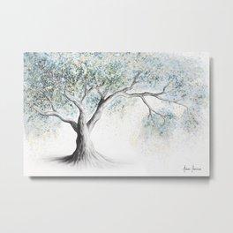 Gentle Frost Tree Metal Print