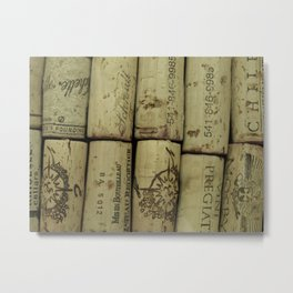 Vertical Corks Metal Print
