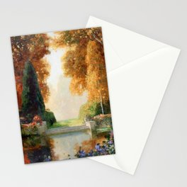Silver and Gold - Luxuriant Autumn Garden by Thomas Mostyn Stationery Cards