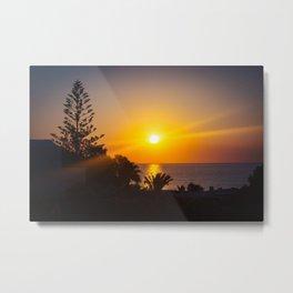 Monolithos Sunrise Metal Print