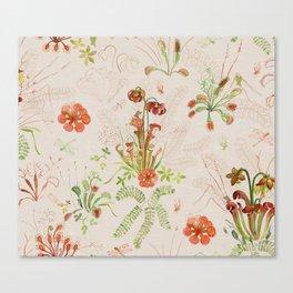 Carnivorous Floral Canvas Print