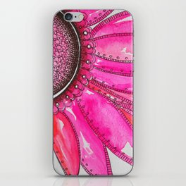 Gerber Daisy Watercolor Print iPhone Skin