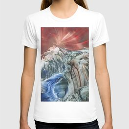 Morphing obscure horizons into shifting emotions T-shirt