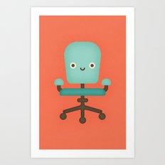 Office Chair Art Print