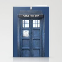 tardis Stationery Cards featuring Tardis by bimorecreative