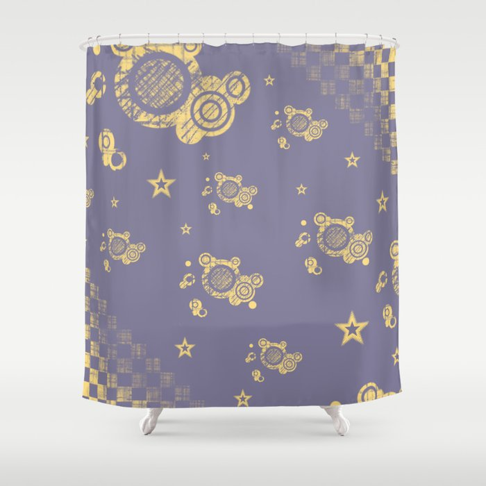 Yellow Punk Shower Curtain By Harushadows