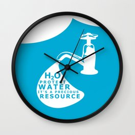 WATER CONSERVATION Wall Clock