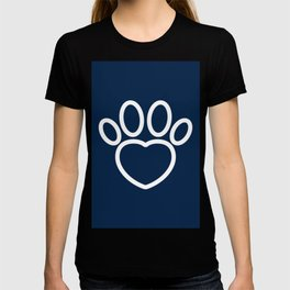 Dog Paw with Heart Dog Lover & owner cynophilist gift T-shirt