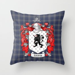 Edwards Crest and Tartan Throw Pillow
