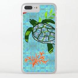 zakiaz turtle Clear iPhone Case